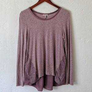 Anthropologie Contrasting Back Tee